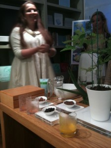 Jennifer Hirsch demonstrating Liz Earle Haircare