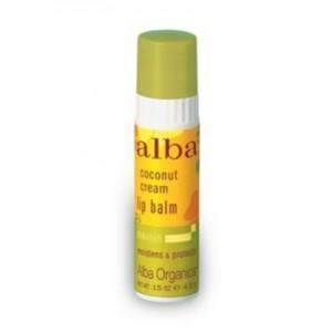 alba coconut cream lip balm