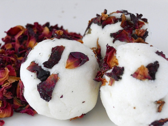 rose bath truffles