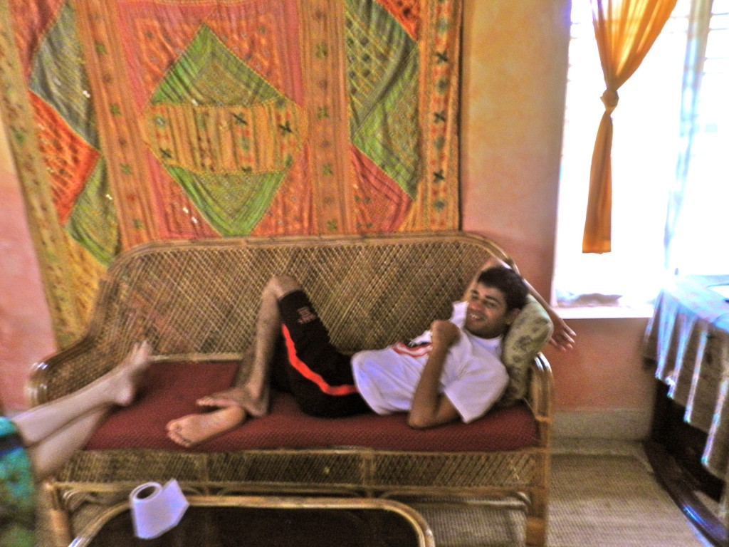 Deepak chilling at Sherin Cottage