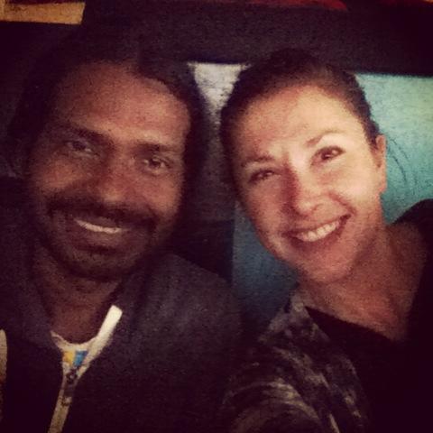 Me and Manoj yoga teacher