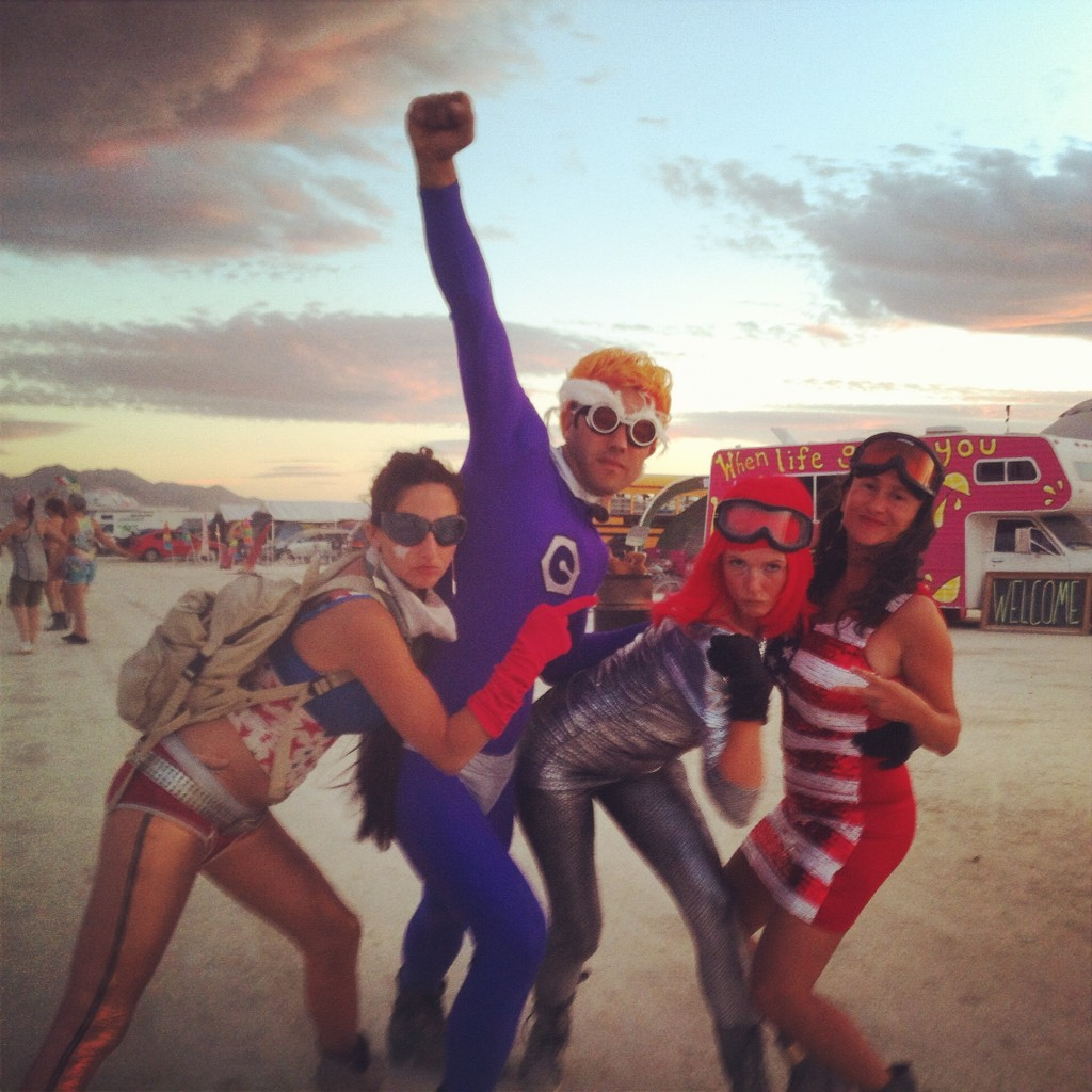 Burning Man superheroes