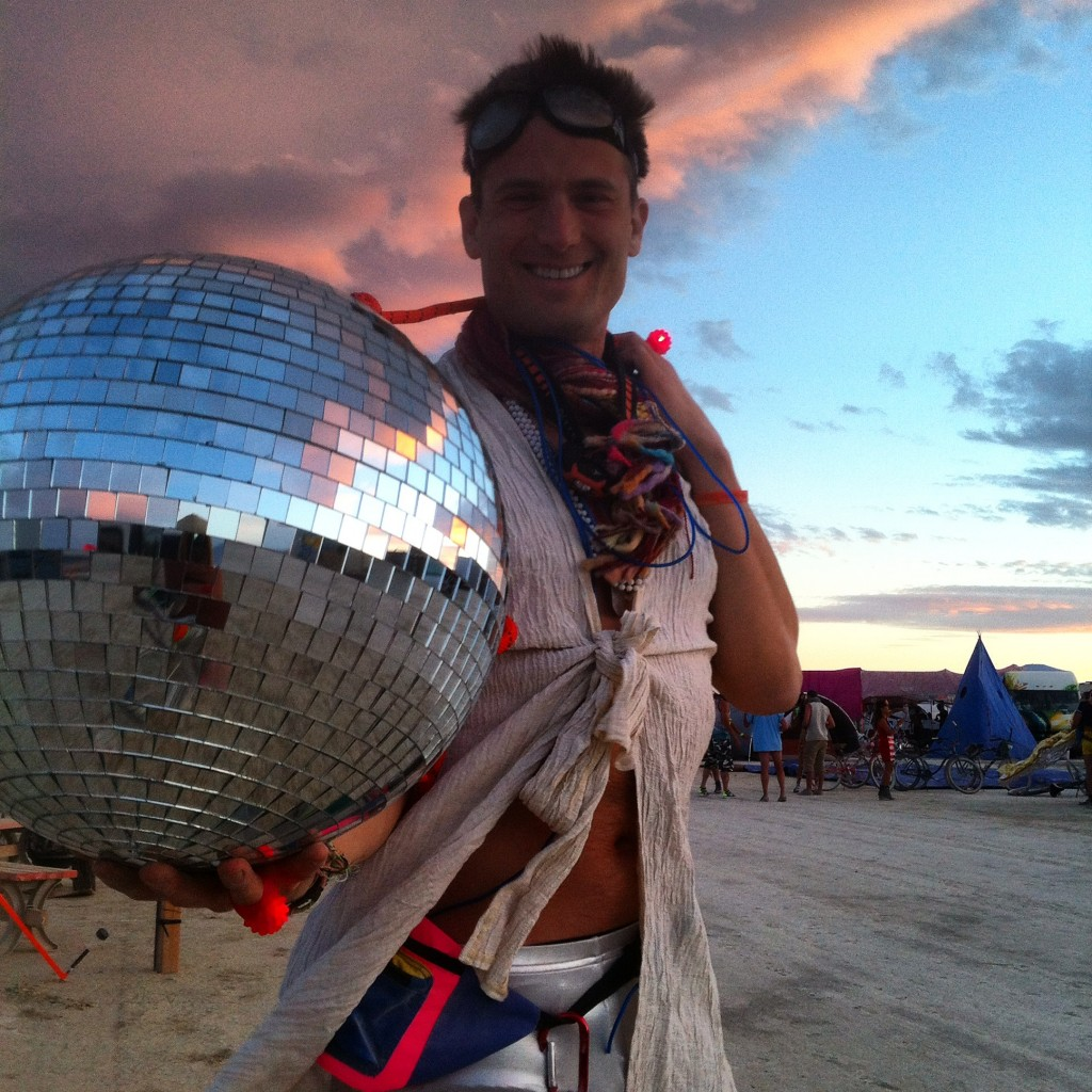 Playing on the playa at Burning Man