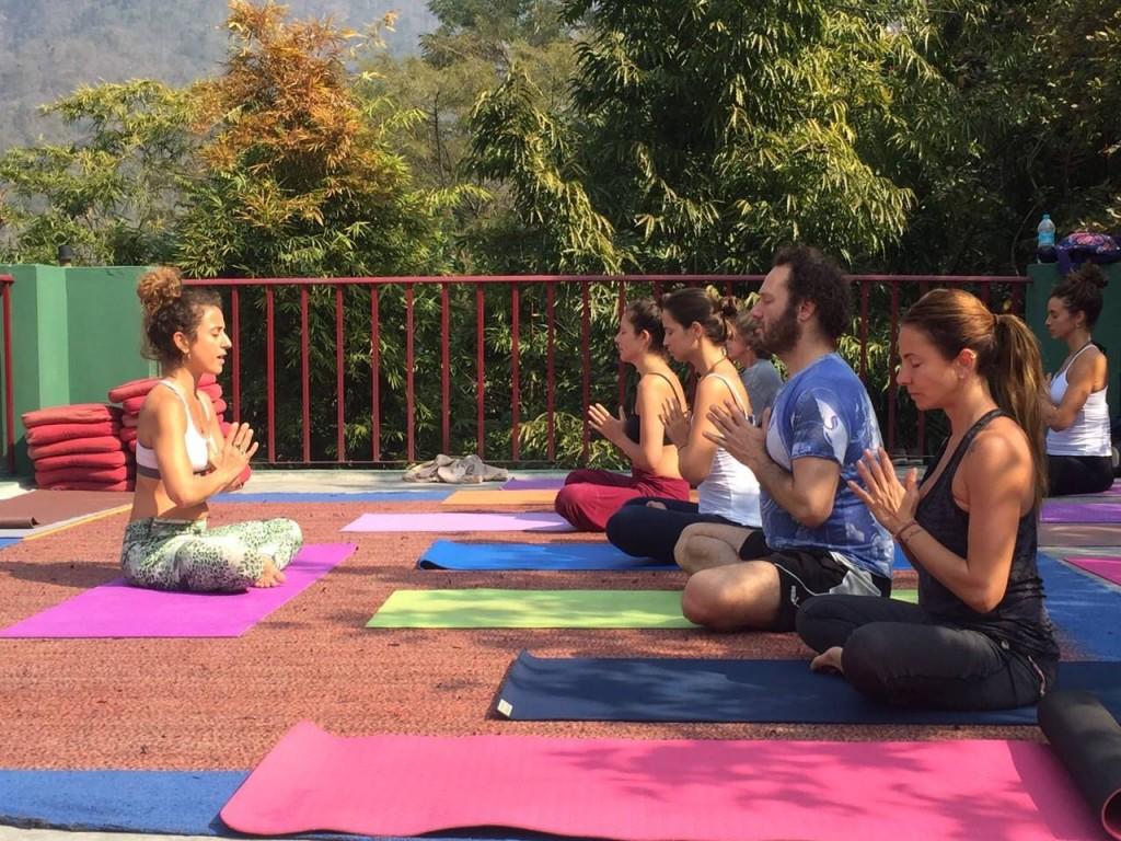yoga practice Rishikesh