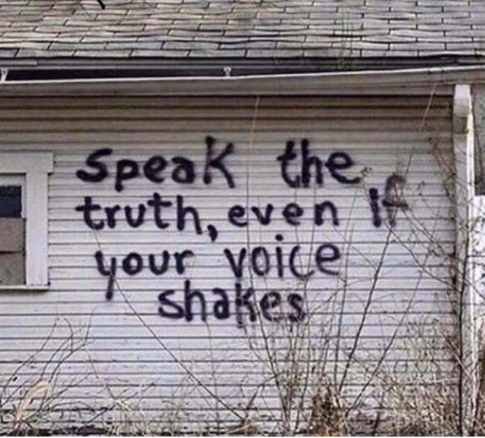 speak the truth voice shakes